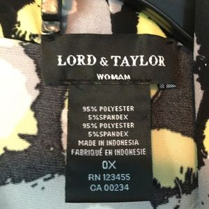 Lord & Taylor Tops - Lord & Taylor black/gray/yellow sleeveless shell
